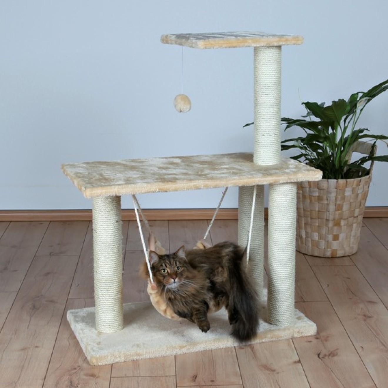 katzen kratzbaum morella mit h ngematte 96 cm hoch online kaufen. Black Bedroom Furniture Sets. Home Design Ideas