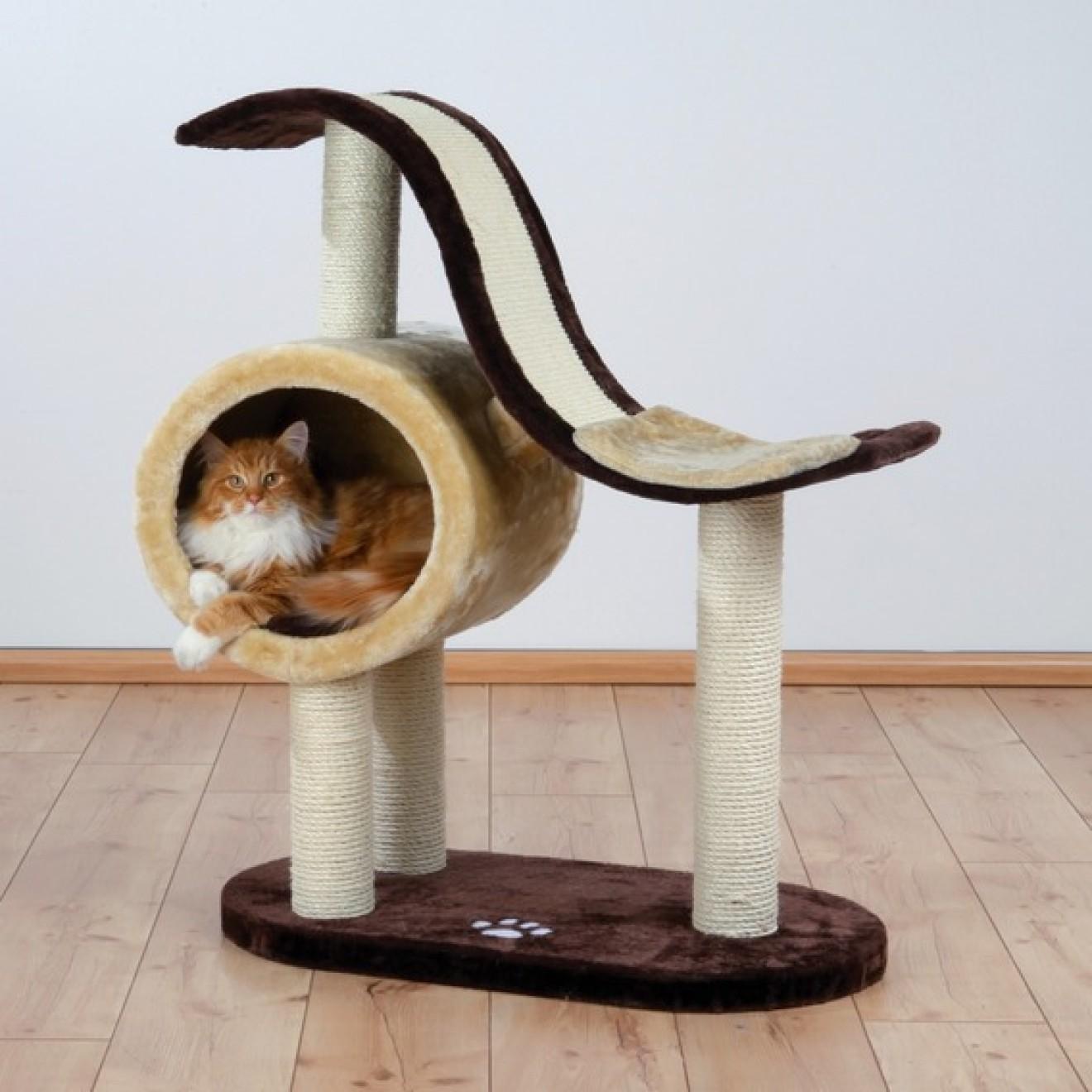 kratzbaum nerja mit runder schlafh hle 99 cm kratzbaum online kaufen. Black Bedroom Furniture Sets. Home Design Ideas