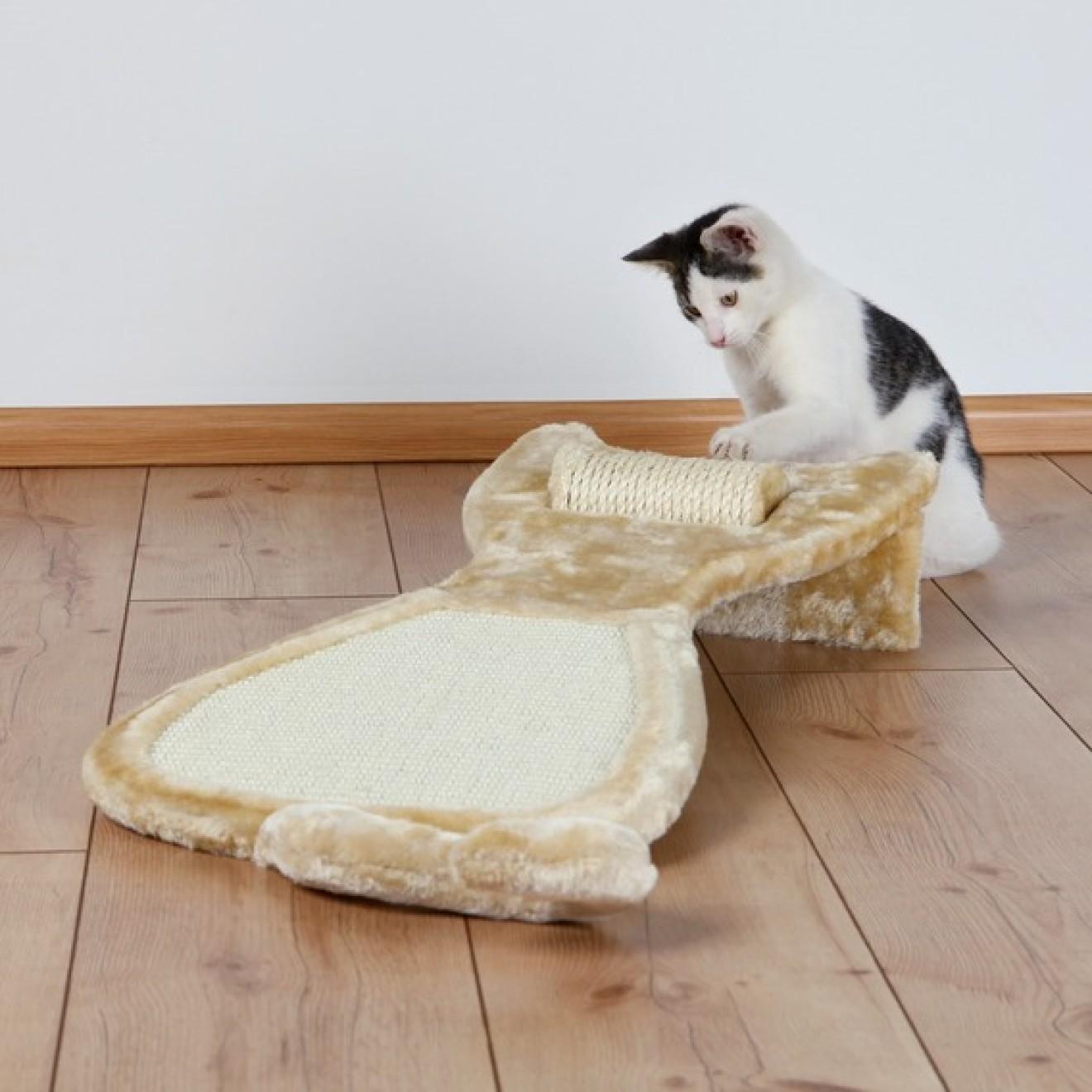 kratzbrett in katzenform mit sisalrolle kratzspielzeug. Black Bedroom Furniture Sets. Home Design Ideas