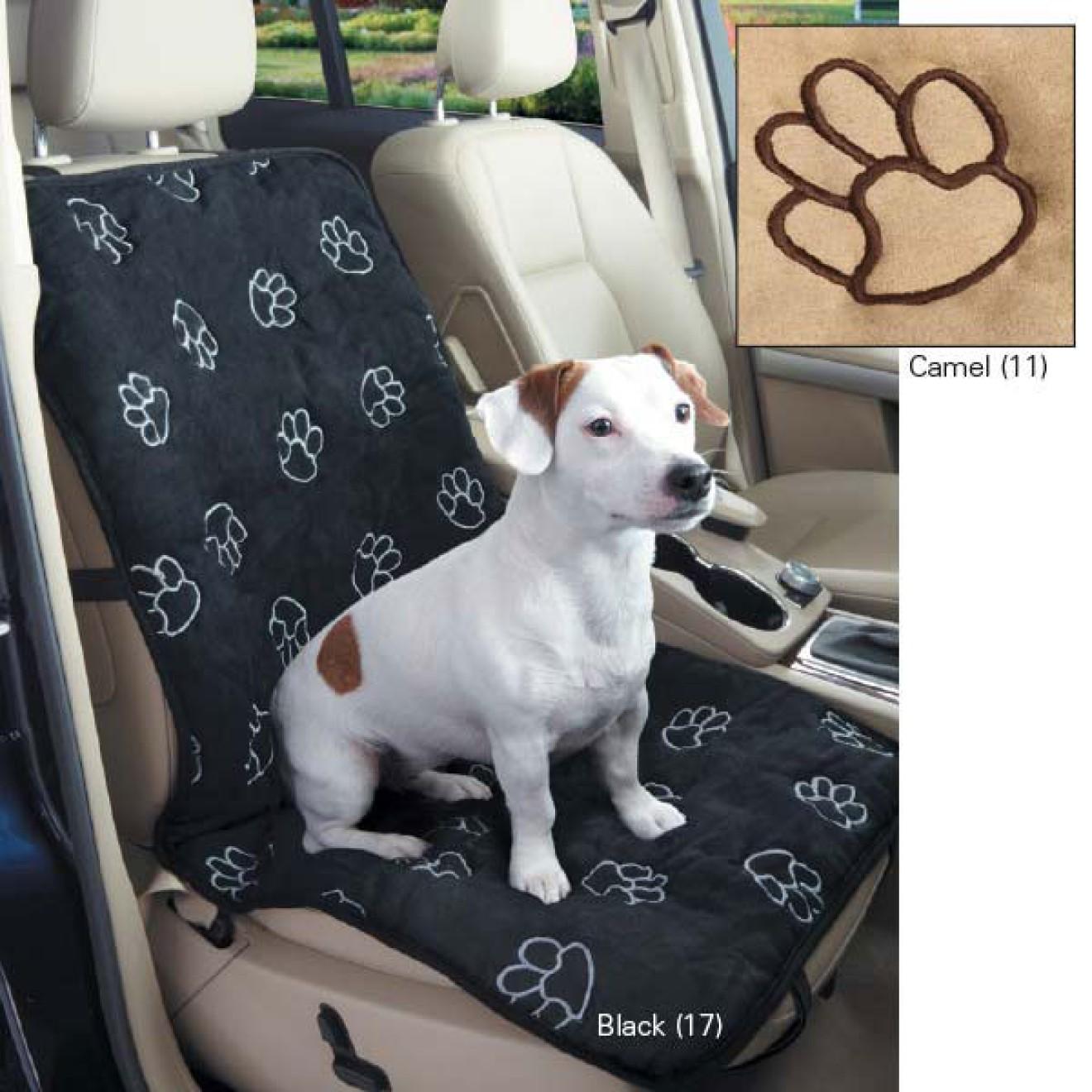 autositz schonbezug f r hunde mit tatzenstickerei. Black Bedroom Furniture Sets. Home Design Ideas