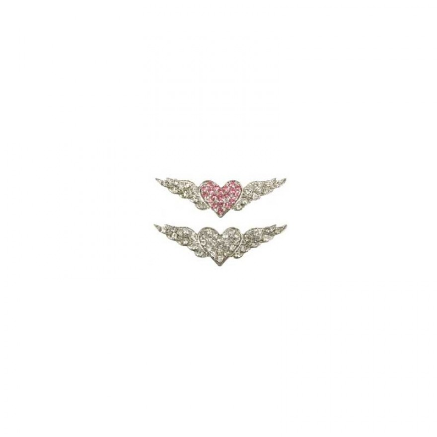 Strass Flying Heart 10 mm