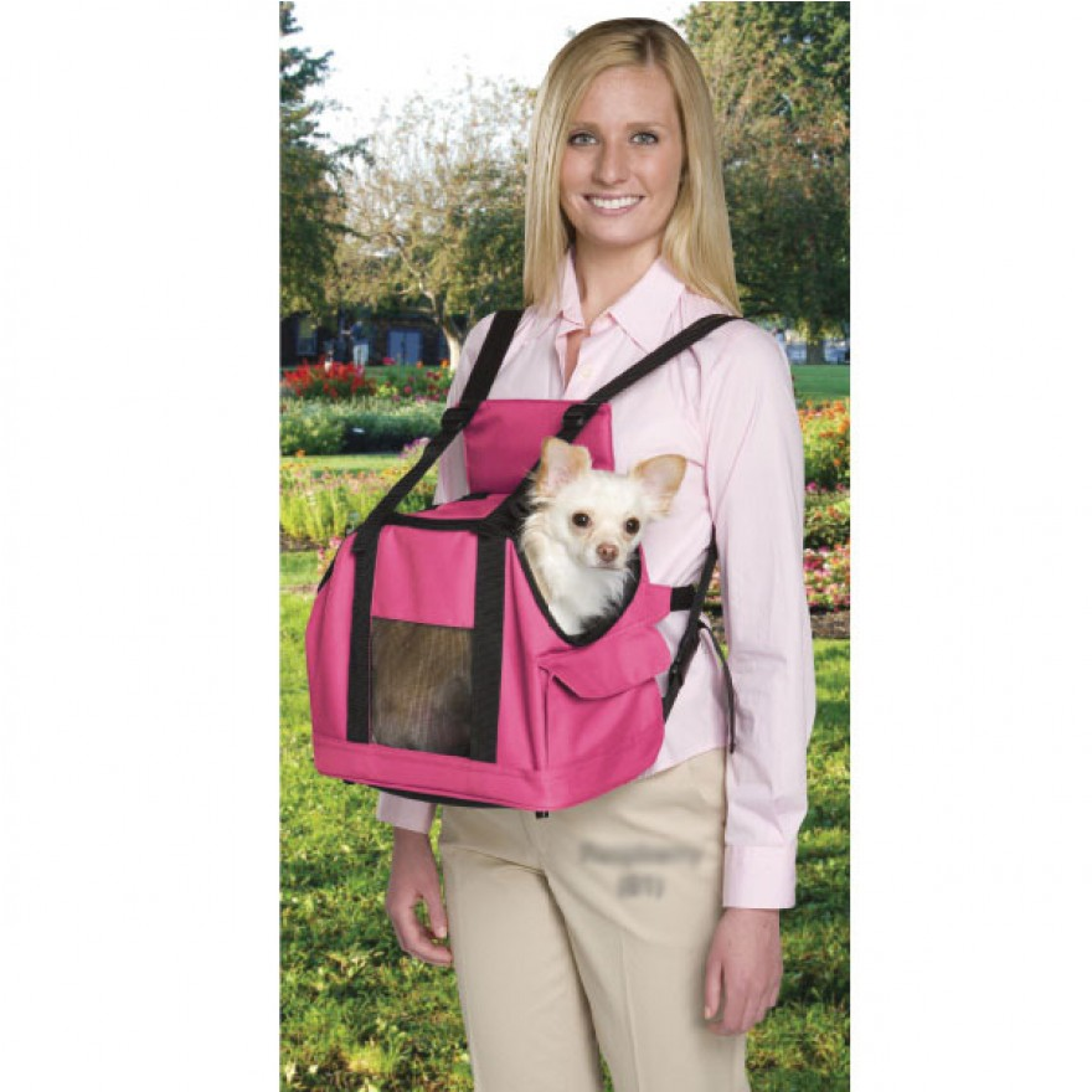 fronttasche f r kleine hunde pink hunde fronttasche front carrier. Black Bedroom Furniture Sets. Home Design Ideas