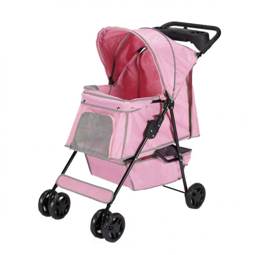 hunde kinderwagen baby petal pink pet stroller. Black Bedroom Furniture Sets. Home Design Ideas