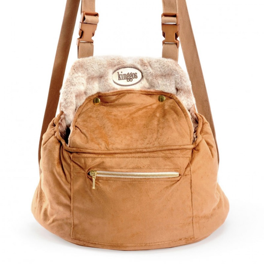 kinggos designer fronttasche rucksack f r hunde camel. Black Bedroom Furniture Sets. Home Design Ideas