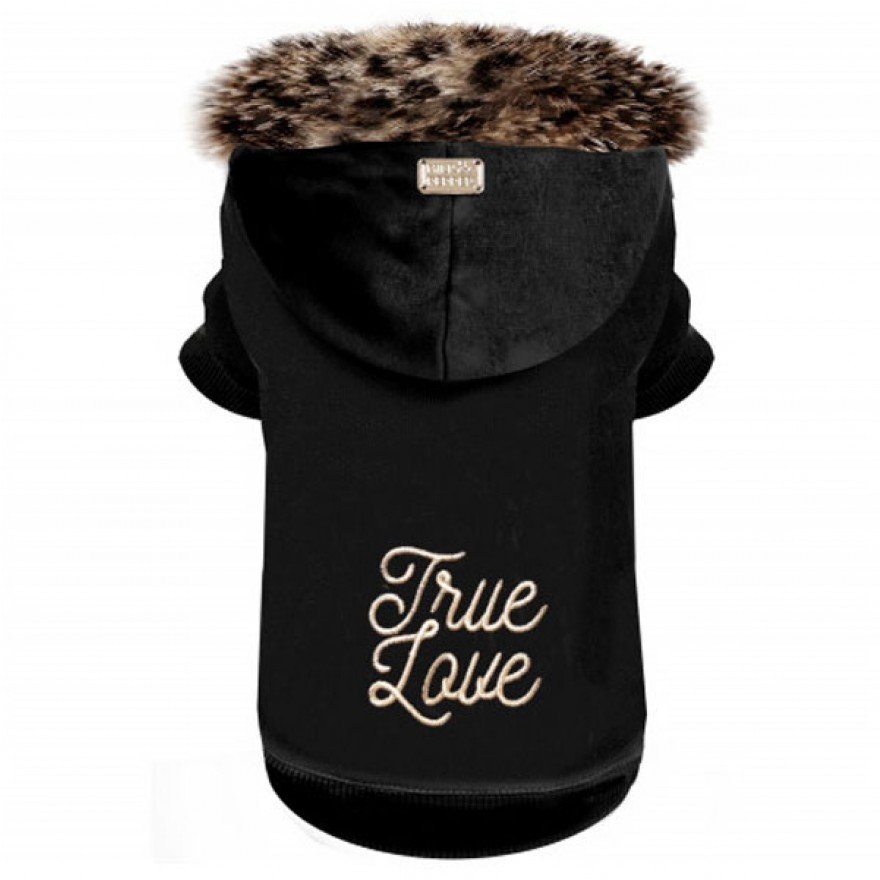 Milk & Pepper Hunde-Sweatshirtjacke KAFUE True Love