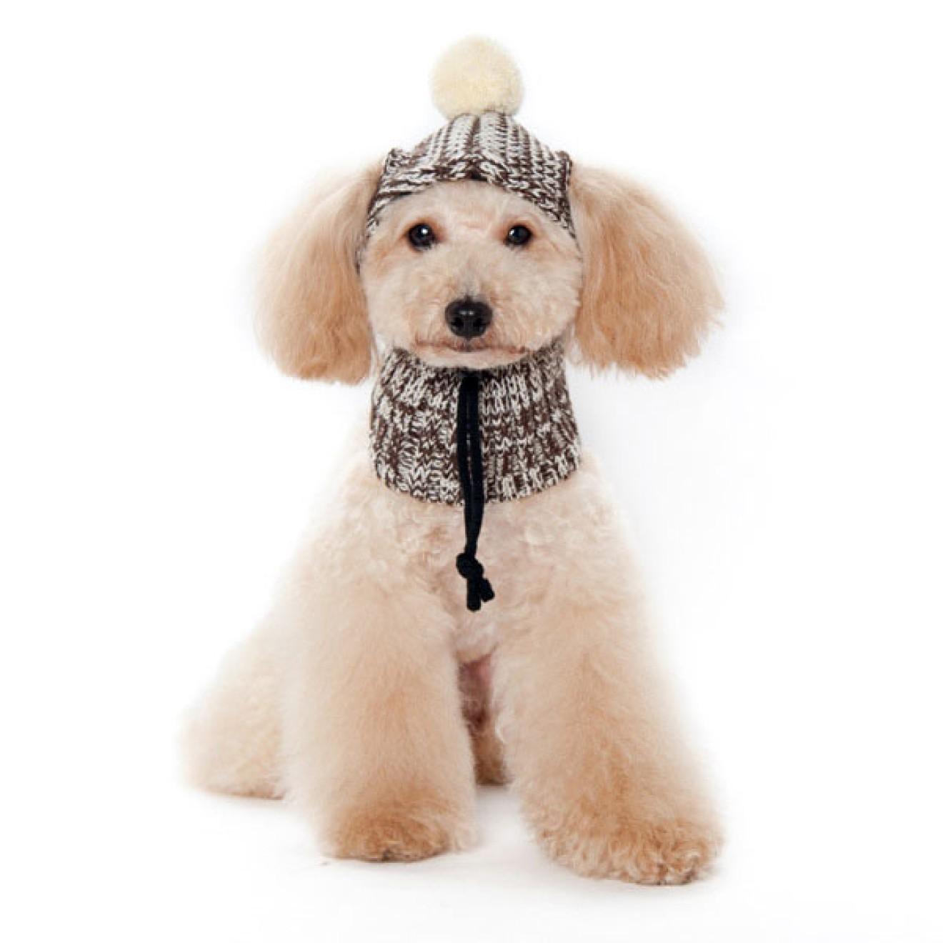 Strick-Hundemütze mit Schal in 6 Grössen, Mütze für Hunde, Hundeschal