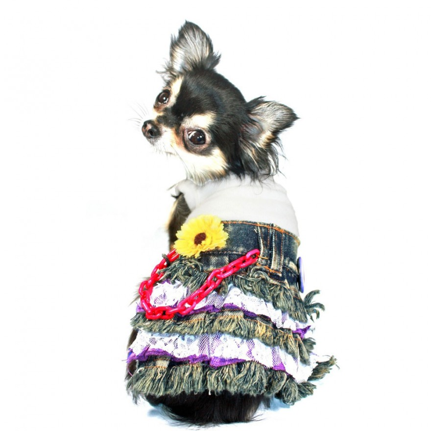 Jeans-Hundekleid Daisy Denim für Chihuahua & Co.