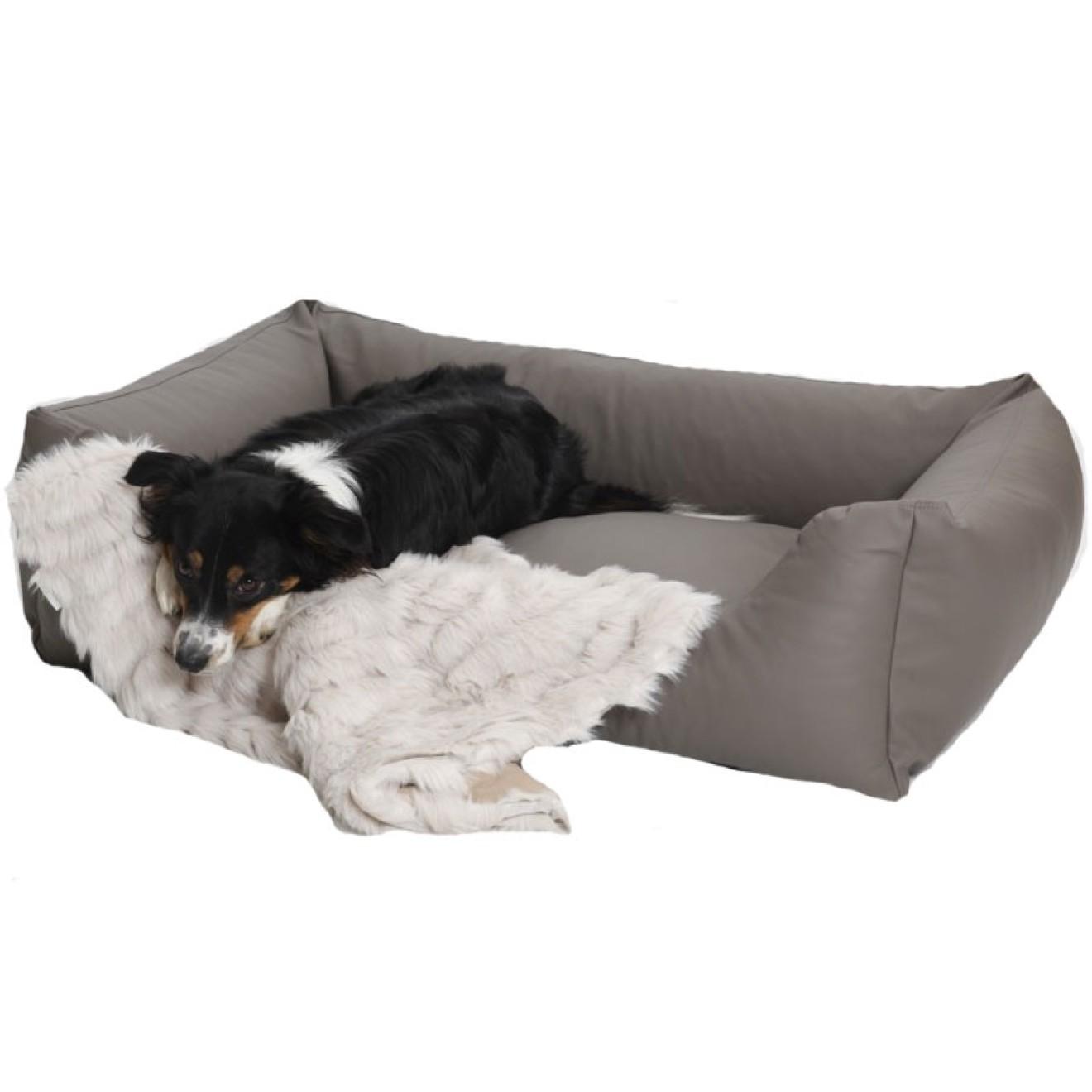 hundebett kunstleder taupe in 3 gr ssen hundebett. Black Bedroom Furniture Sets. Home Design Ideas