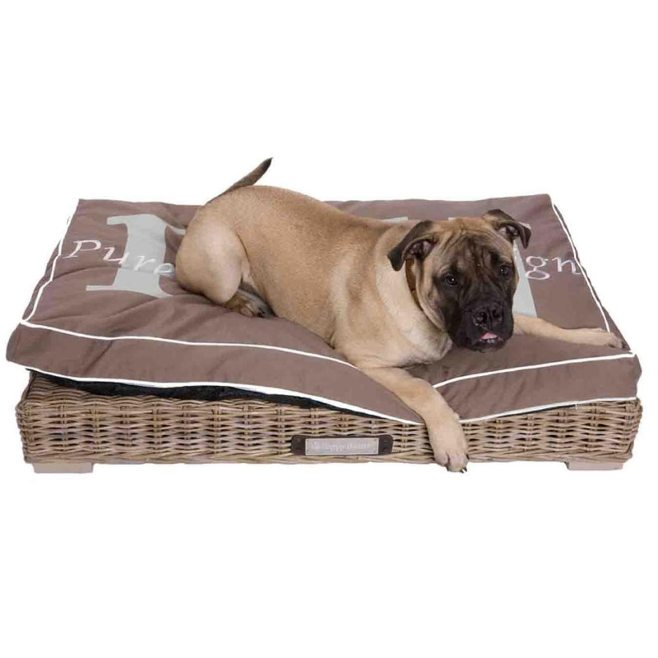 rattan loungebett f r hunde in 3 gr ssen rattan hundeliege. Black Bedroom Furniture Sets. Home Design Ideas