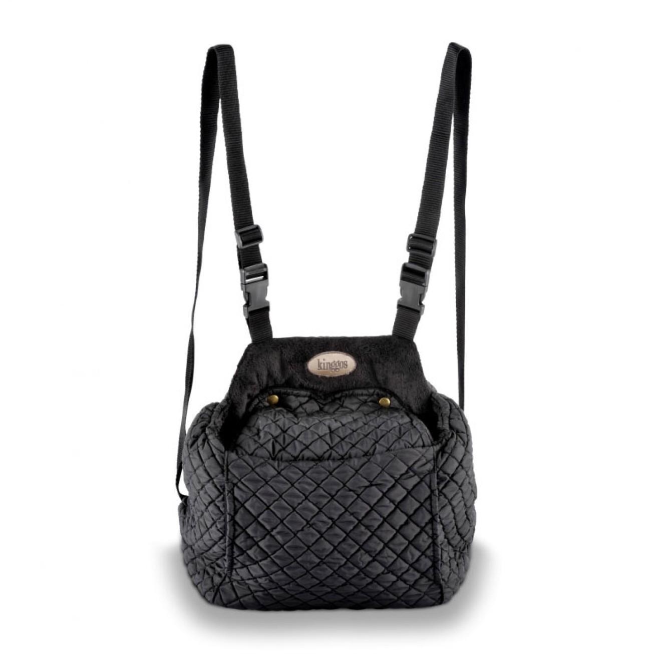kinggos luxus hunderucksack fronttasche black online kaufen. Black Bedroom Furniture Sets. Home Design Ideas