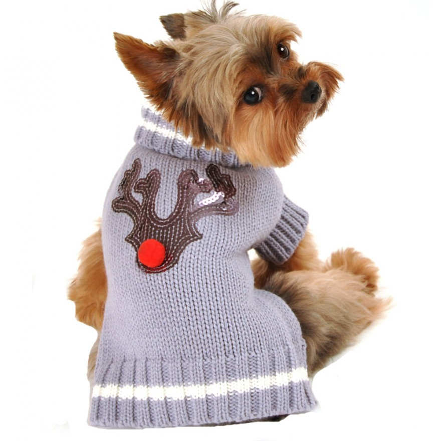 Strick-Hundepullover Rudolph the Red Nose Gr. XS