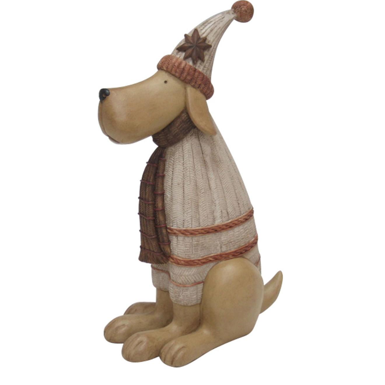 Weihnachtsdeko Hund.Weihnachtsdeko Hund Mit Pudelmütze 30 Cm