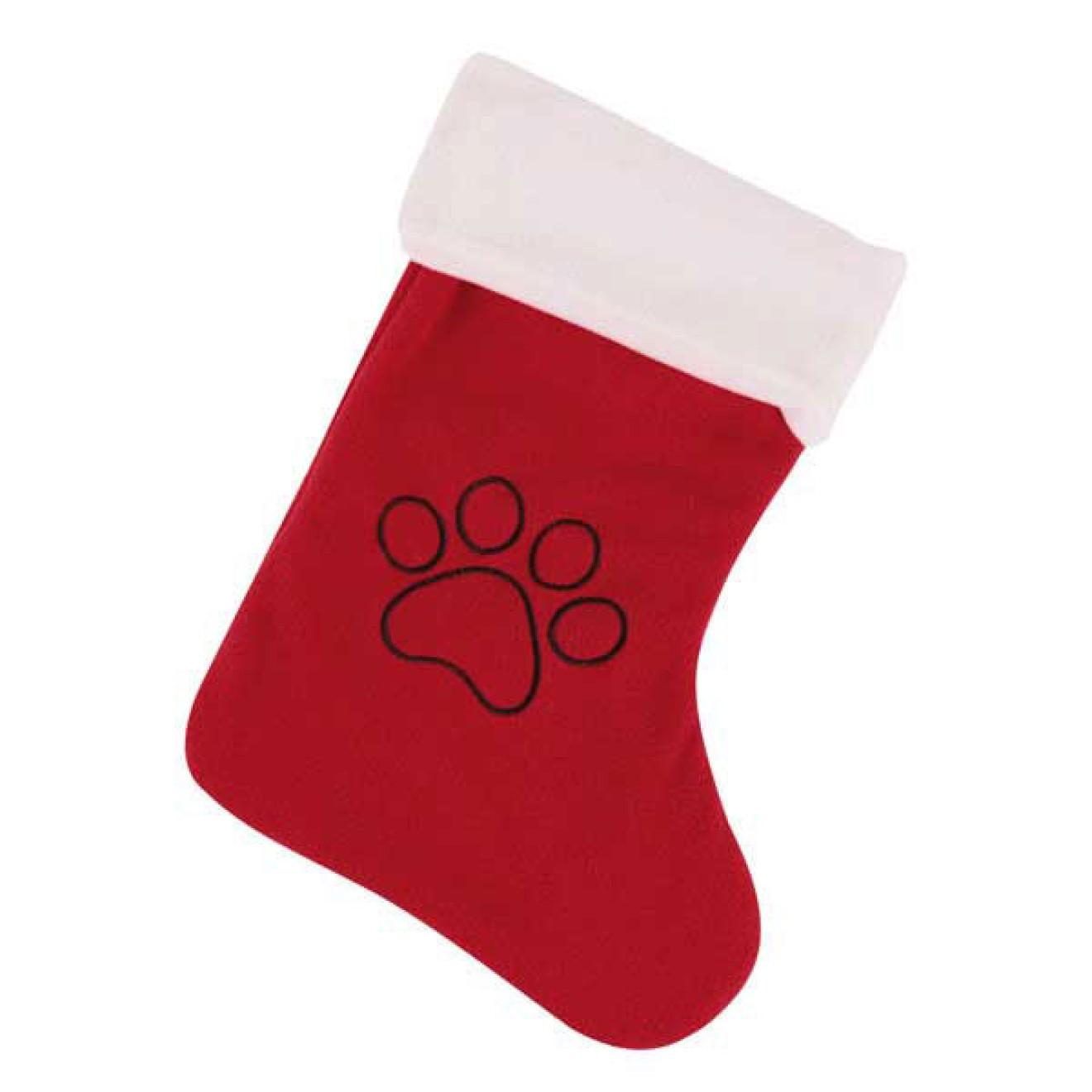 Hunde-Weihnachtssocke Gib Pfötchen, Weihnachtssocke für Hunde