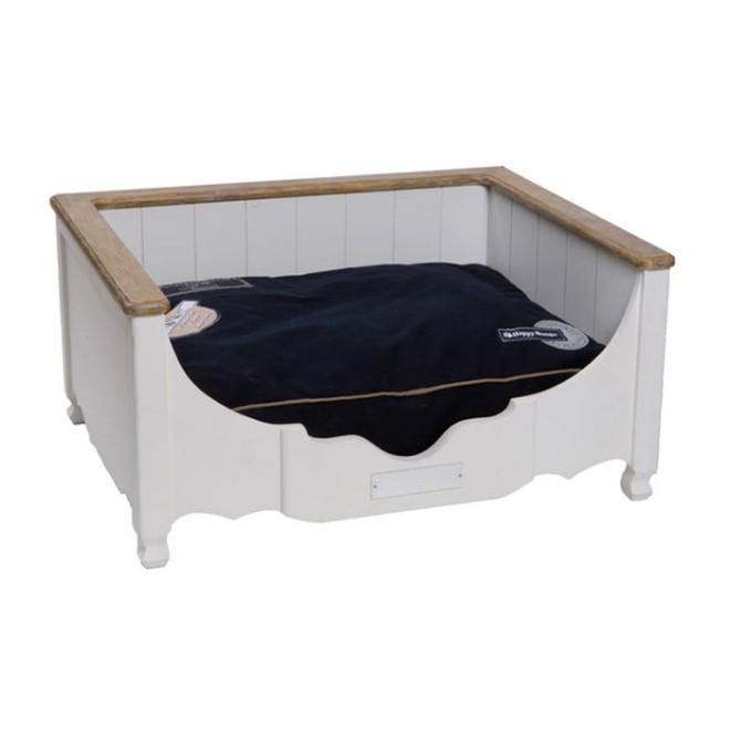 holz hundebett brighton in 2 gr ssen holz hundekorb. Black Bedroom Furniture Sets. Home Design Ideas