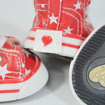 Hunde-Sneakers BE A STAR red