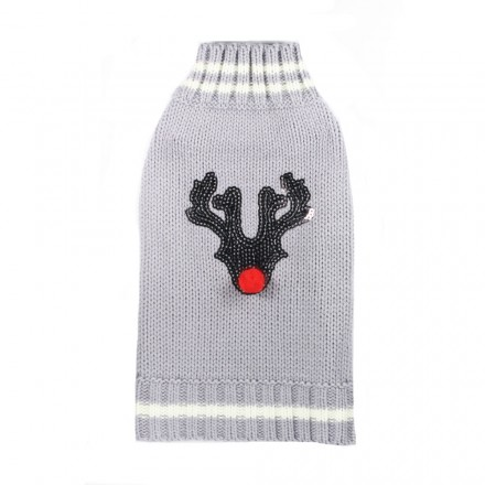 Strick-Hundepullover Rudolph the Red Nose