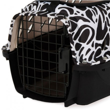 fashion transportbox f r hunde katzen plastik transportbox. Black Bedroom Furniture Sets. Home Design Ideas
