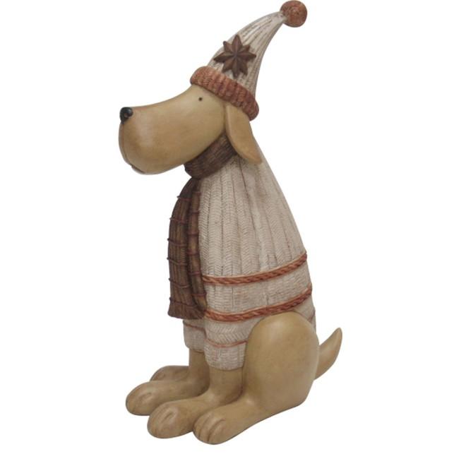 Weihnachtsdeko Hund Mit Pudelmutze 30 Cm Online Kaufen
