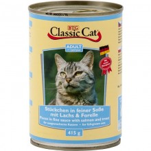 Classic Cat Soße mit Lachs & Forelle 12 x 415g Dose