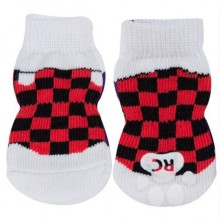 Antirutsch-Hundesocken CHECKER, XS, S,, M 4 Socken