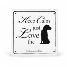 Deko-Wandfliese Keep Calm just Love the Dog
