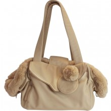 Fell-Hundetasche Luxury Dog creme 2 in 1 (Hundetasche & Hundebett)