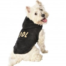 Kuscheliger Fleece-Hundehoodie COOL black