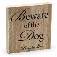 Deko-Holzschild Beware of the Dog