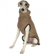 Warmer Windhund- und Whippet-Pullover camel-brown