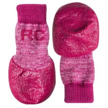 Outdoor-Hundesocken pink, XXS - XL, 4 Socken