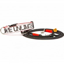 Segeltuch-Hundehalsband LOVE UNLIMITED Gr. M
