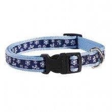 Nylon-Hundehalsband Winter Dream blau