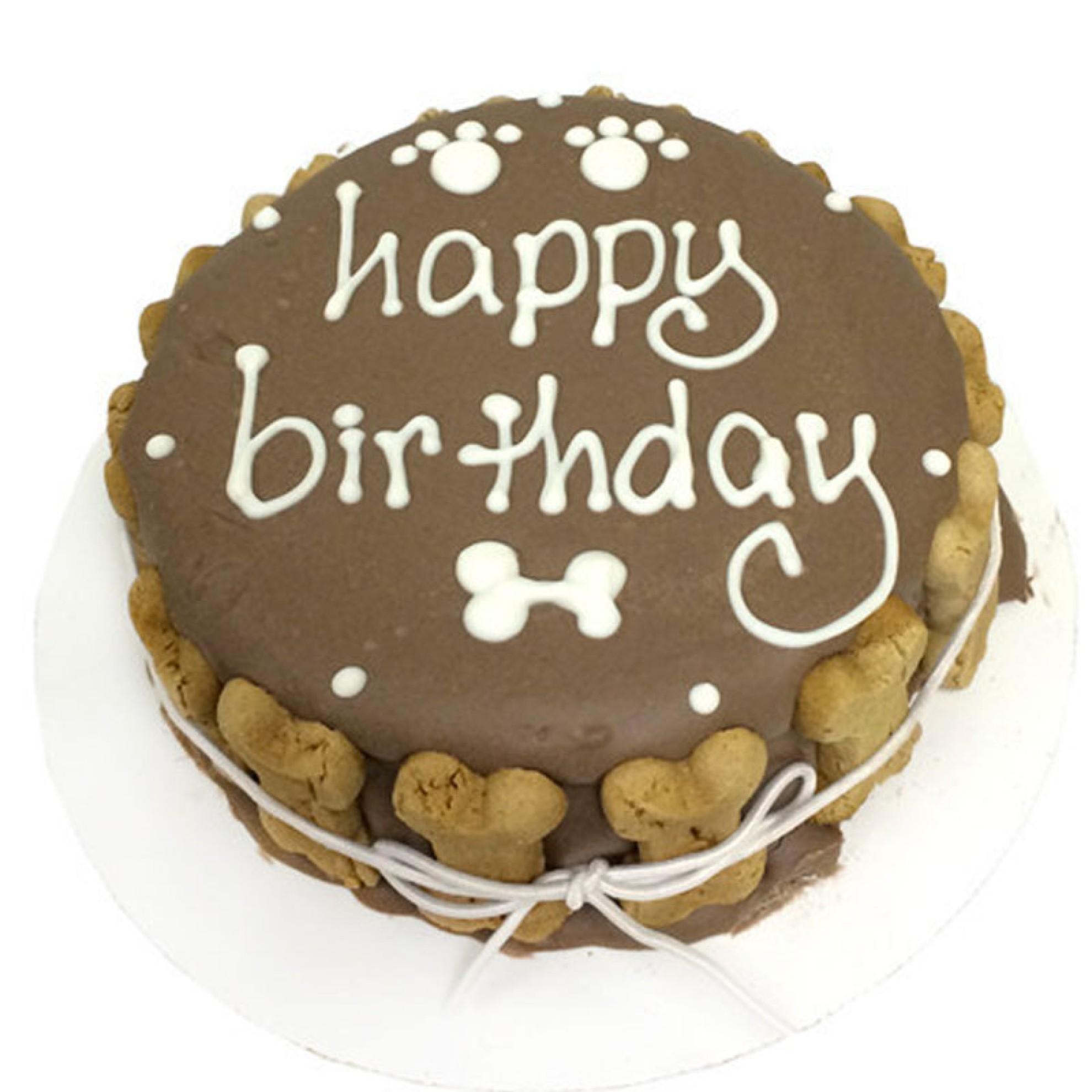 Hunde-Geburtstagstorte HAPPY BIRTHDAY Schoko-Style ...